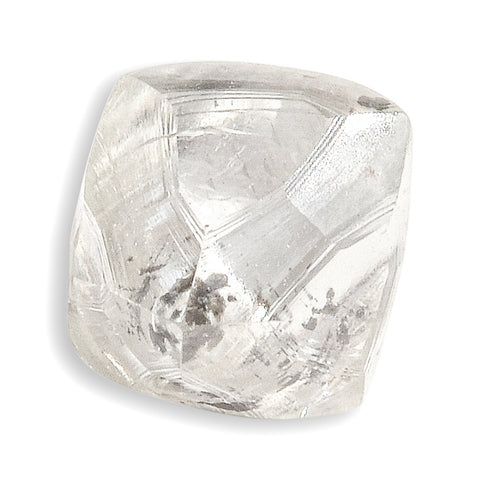 0.52 carat white rough diamond octahedron