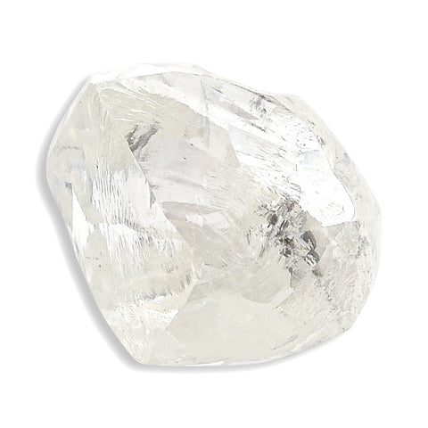 2.06 carat champagne colored rough diamond crystal