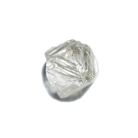 1.37 carat champagne blush freeform raw diamond