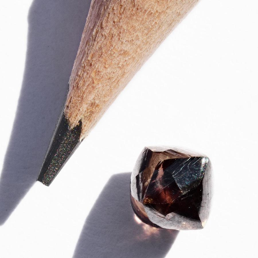 0.92 carat deep coffee brown raw diamond octahedron Raw Diamond South Africa