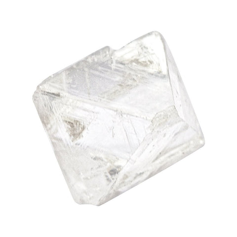 1.0 carat bright white and architecturally intriguing rough diamond octahedron Raw Diamond South Africa
