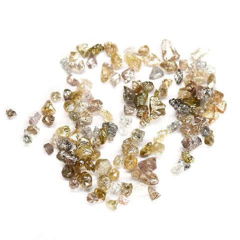 White and silver natural rough diamonds - we pick one piece from this parcel for you - around 0.75 carats each