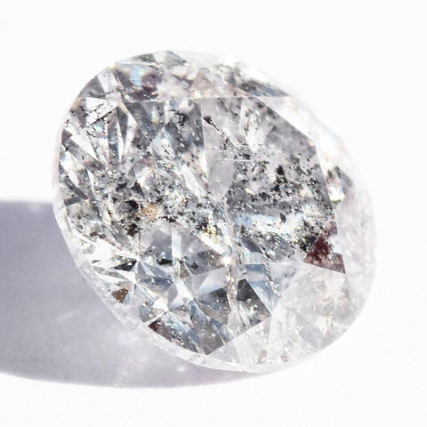 1.01 carat salt and pepper round brilliant natural diamond Raw Diamond South Africa