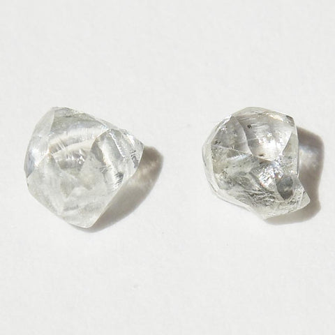 .50 carat bright white raw diamond pair