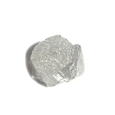 1.31 carat smoky brown rough diamond freeform crystal