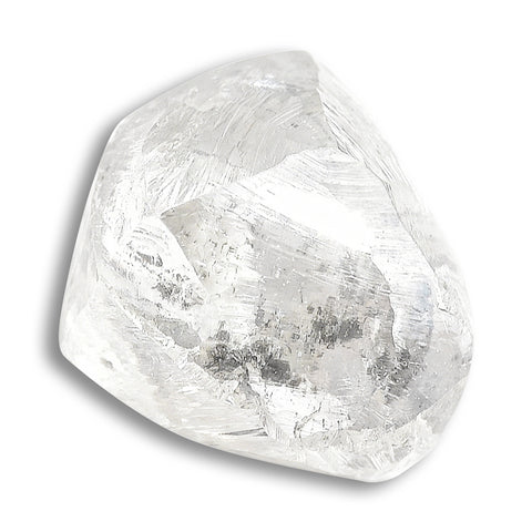 1.08 carat transparent rough diamond dodecahedron