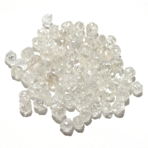 33.03 carats fancy white raw diamond parcel
