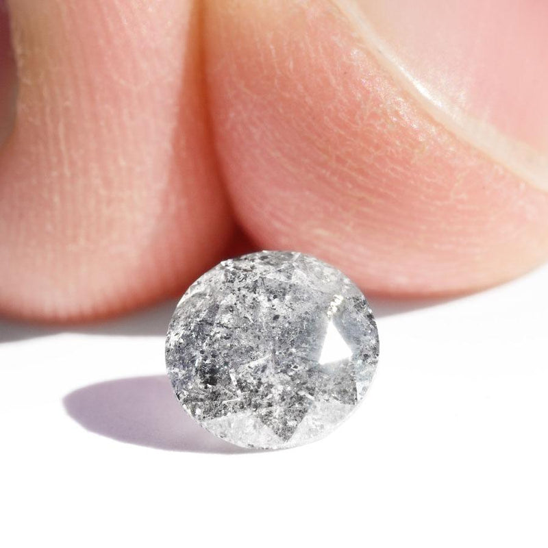 1.12 carat round brilliant salt and pepper diamond Raw Diamond South Africa