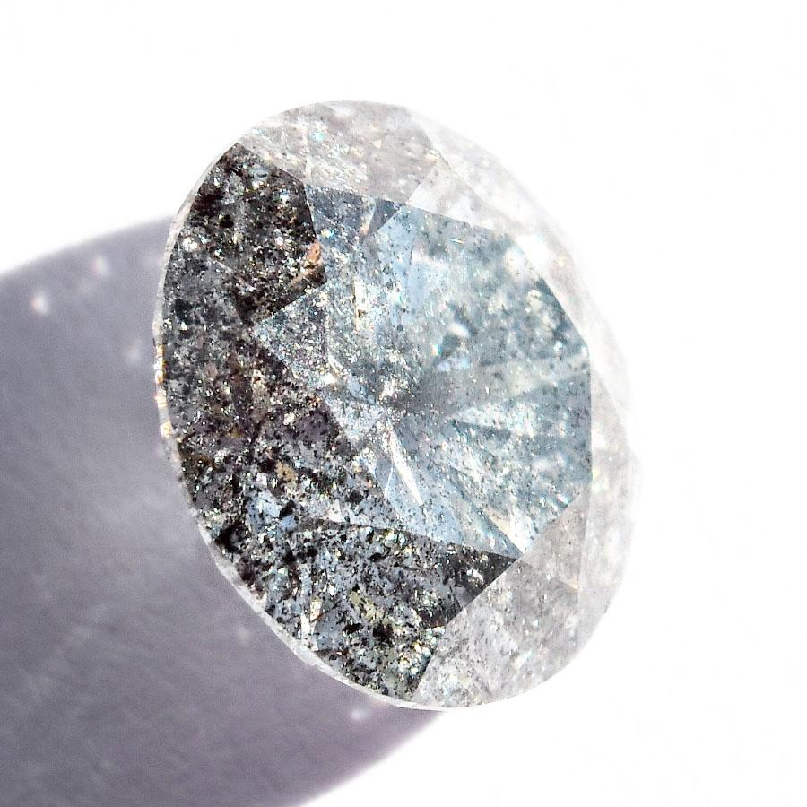 1.18 carat round brilliant salt and pepper diamond Raw Diamond South Africa