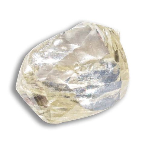 1.17 carat blush colored raw diamond dodecahedron