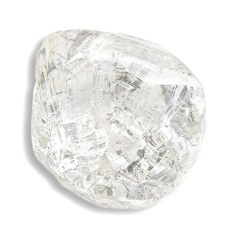 1.23 carat fancy alluvial rough diamond dodecahedron