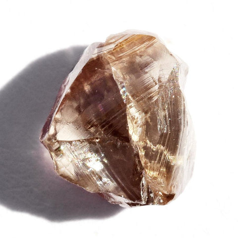 1.29 carat cognac brown rough diamond triangle maccle Raw Diamond South Africa