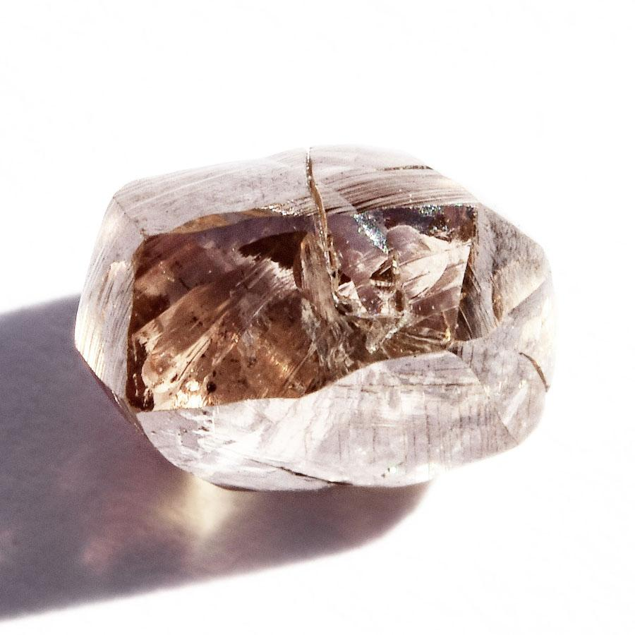 1.31 carat smoky brown rough diamond freeform crystal Raw Diamond South Africa