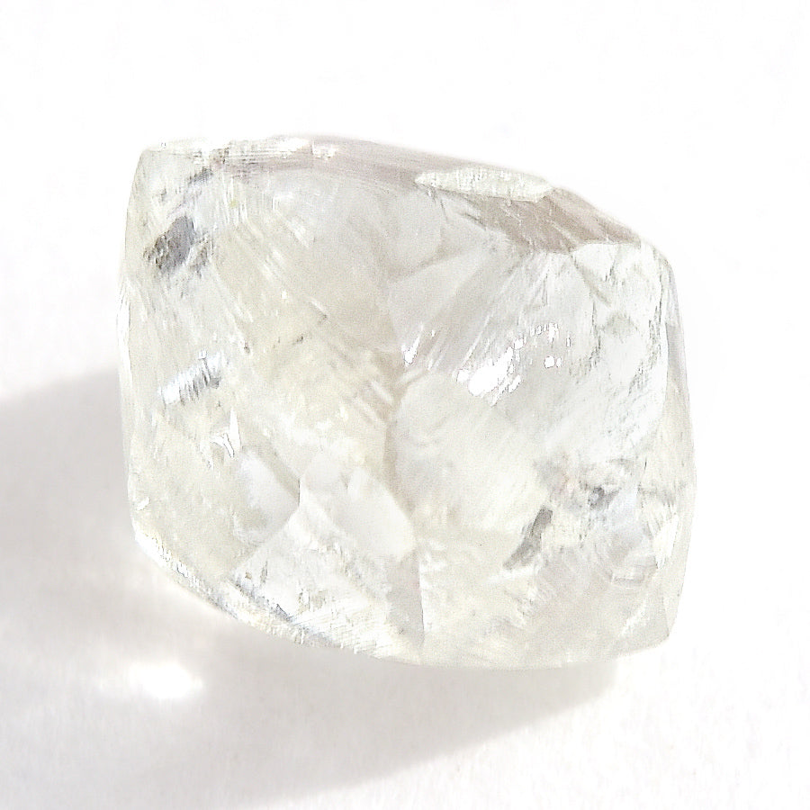 1.32 carat oblong and bright rough diamond octahedron