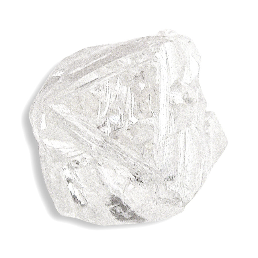 1.39 carat earthy and white rough diamond octahedron