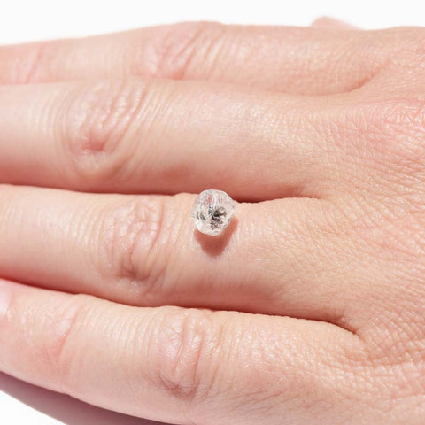 1.61 carat bright and sparkly round raw diamond