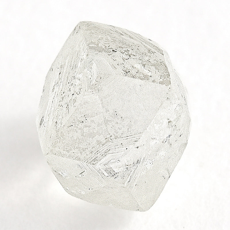 1.40 carat glowy and proportional raw diamond dodecahedron