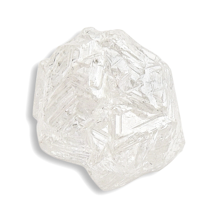 1.42 carat sparkly and bright freeform rough diamond