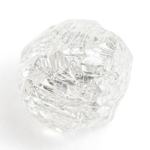 1.45 carat fancy white freeform rough diamond