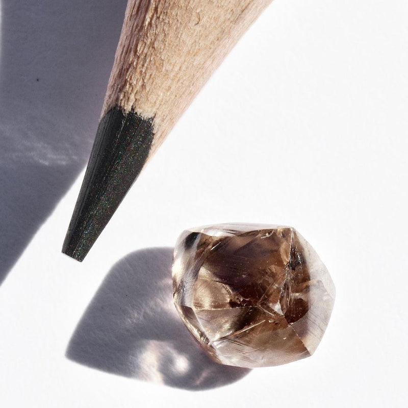 1.48 carat champagne blush rough diamond dodecahedron Raw Diamond South Africa