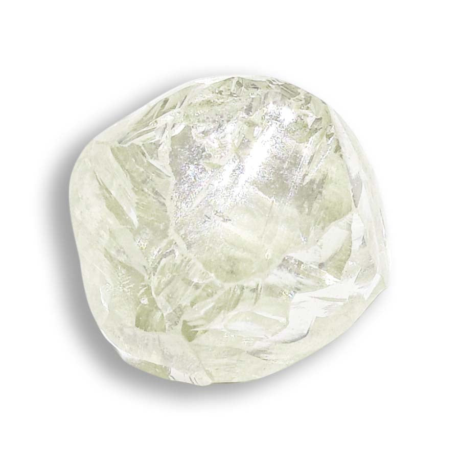 0.78 carat light green freeform rough diamond
