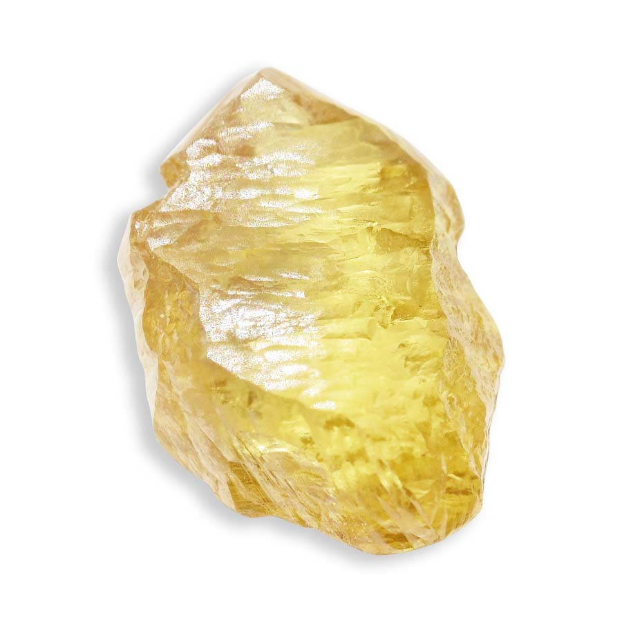 1.14 carat golden yellow freeform rough diamond