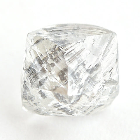 1.61 carat alluvial and shiny raw diamond octahedron