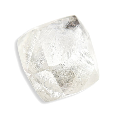 0.72 carat champagne colored rough diamond octahedron