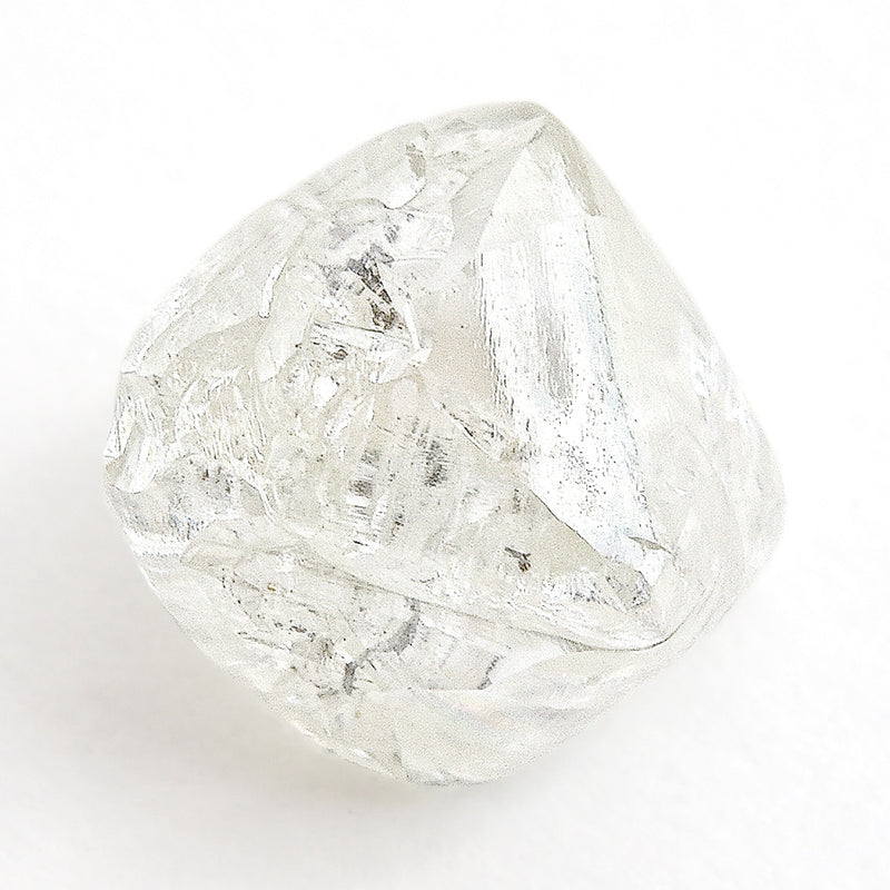 1.72 carat proportionate and interesting rough diamond octahedron
