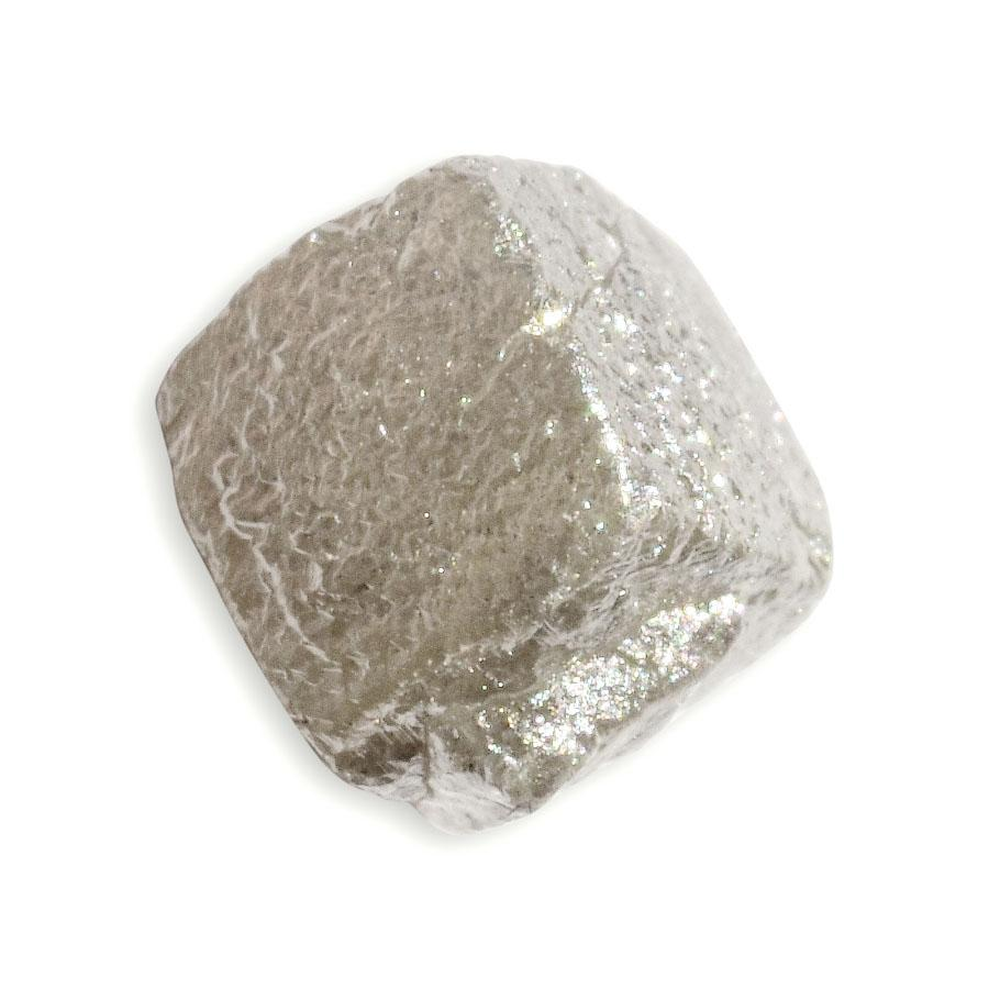 1.85 carat silver and champagne colored rough diamond twinned cube Raw Diamond South Africa
