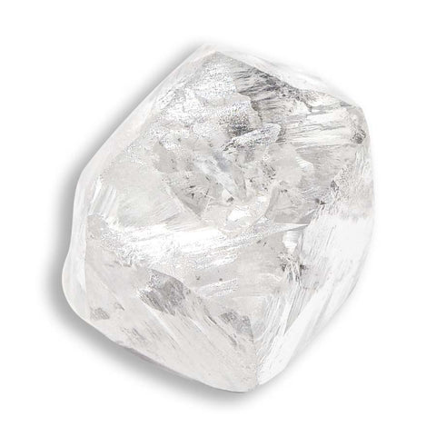 2.0 carat classic white rough diamond dodecahedron
