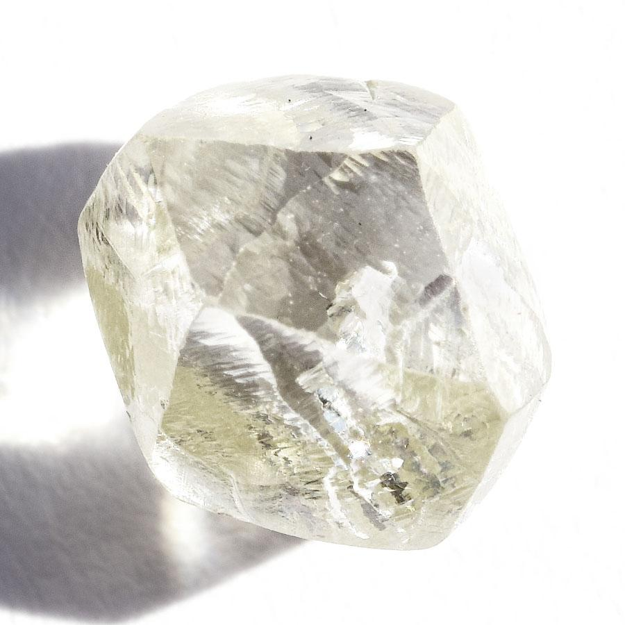 2.02 carat lemon lime colored rough diamond rhombododecahedron Raw Diamond South Africa
