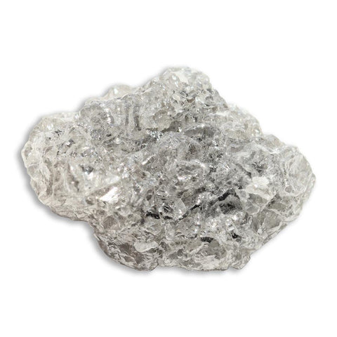 17.84 carat grey sparkly raw diamond