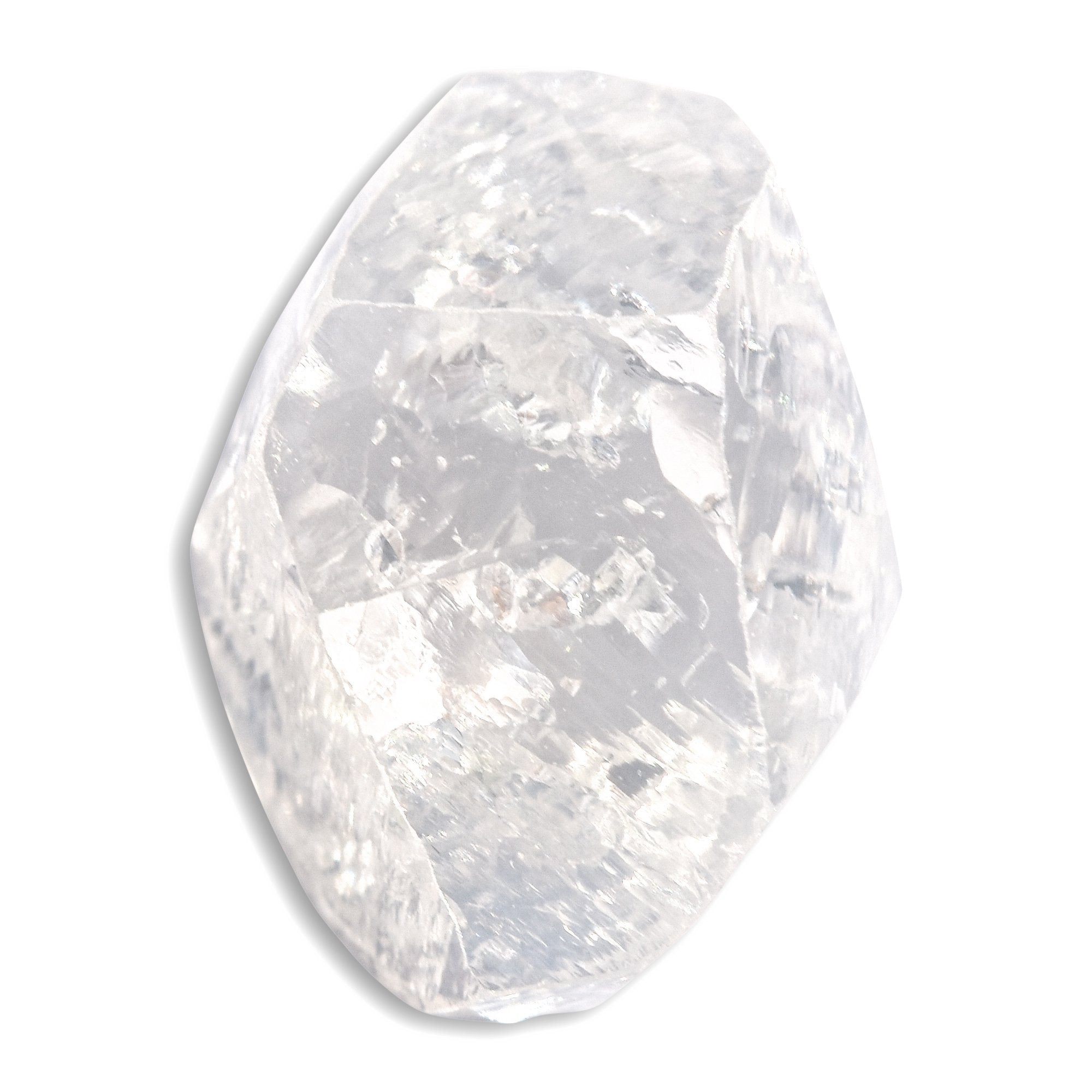 2.10 carat oblong bright white rough diamond freeform crystal Raw Diamond South Africa