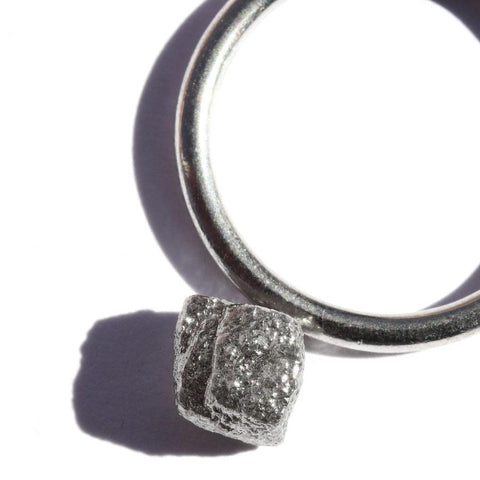 2.10 carat silver rough diamond cube Raw Diamond South Africa