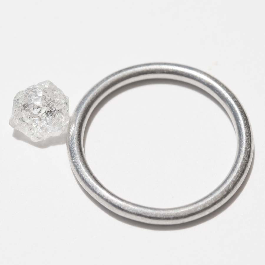 1.26 carat bright star shaped raw diamond