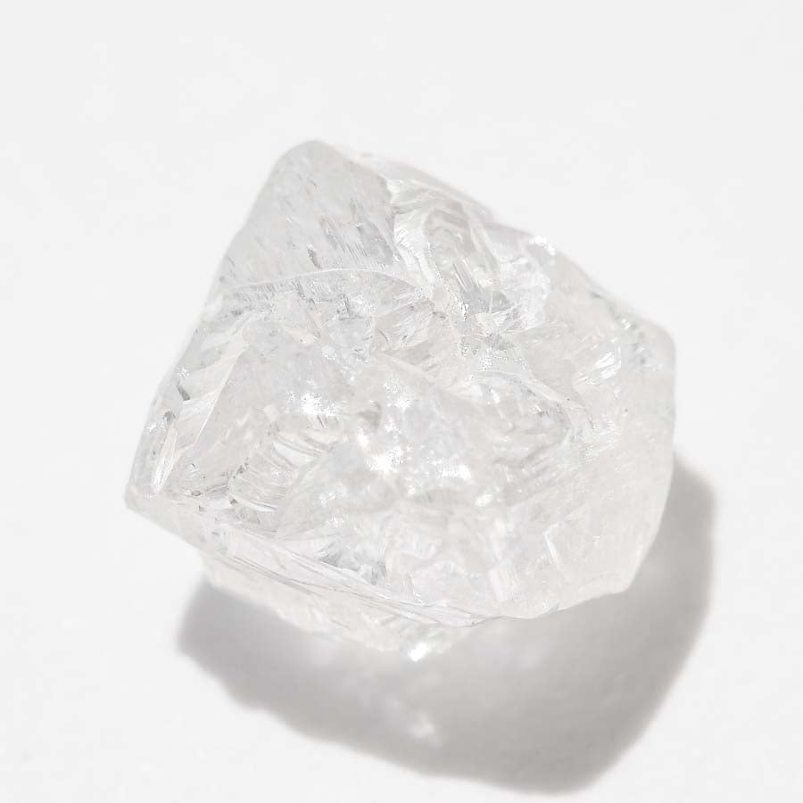 1.48 carat perfectly pure white freeform raw diamond