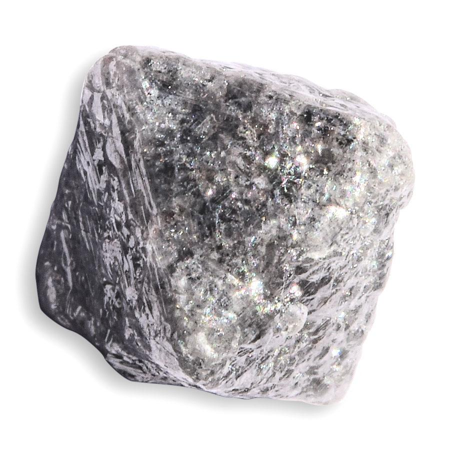 2.42 carat silver rough diamond octahedron Raw Diamond South Africa