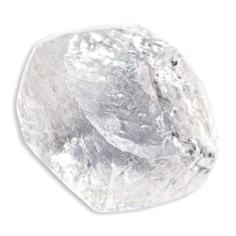 1.76 carat sharp and smooth rough diamond octahedron