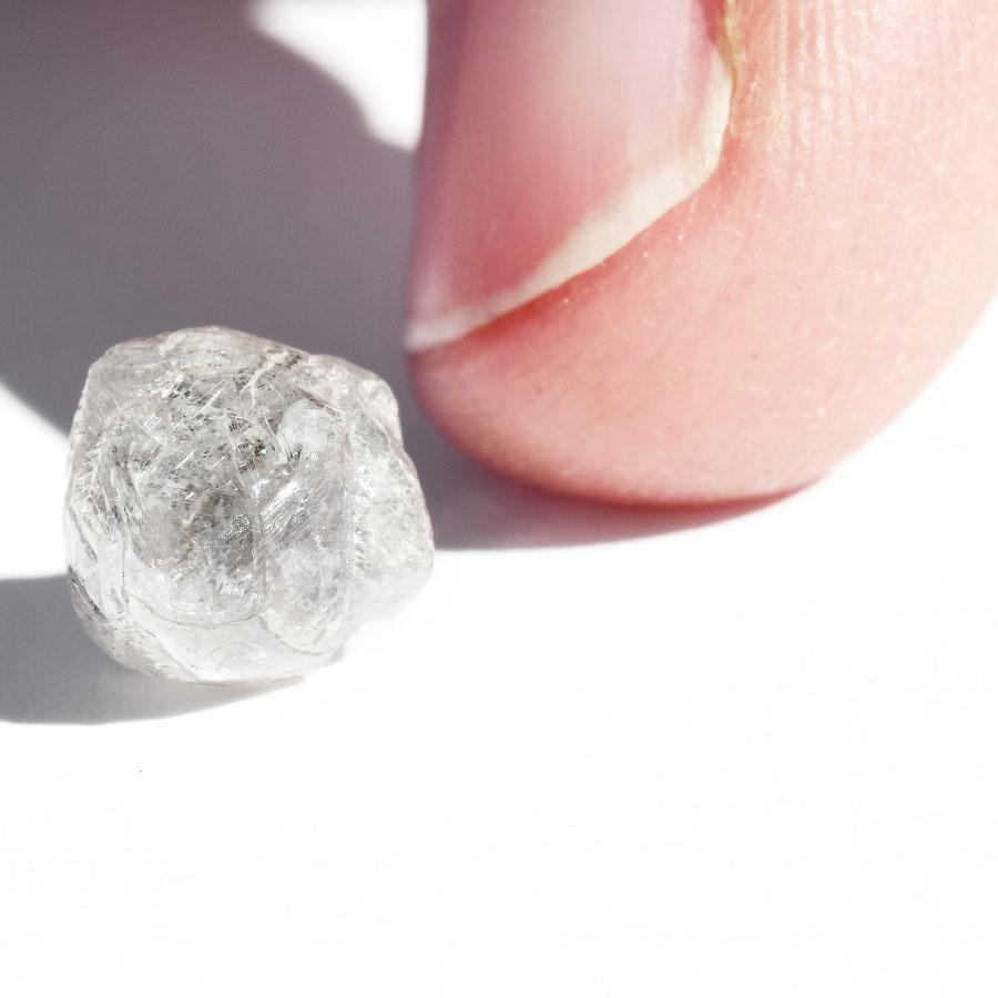 2.56 carat white rough diamond freeform crystal Raw Diamond South Africa