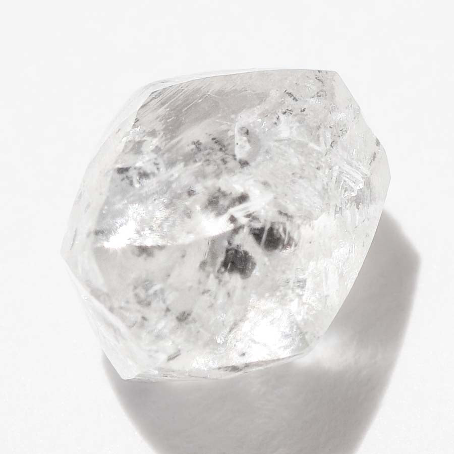 1.57 carat waterdroplet raw diamond dodecahedron