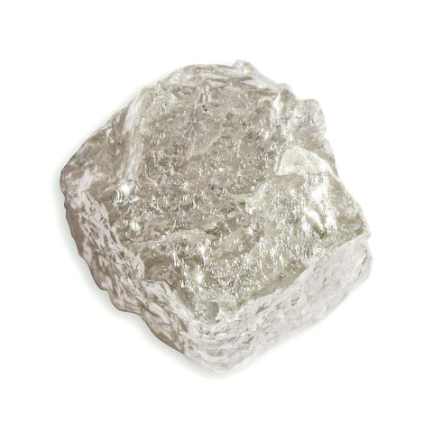 1.20 carat delicate champagne rough diamond freeform crystal