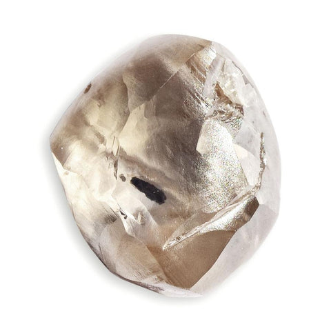 1.72 carat white light freeform shaped raw diamond