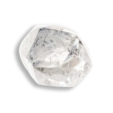 0.74 carat salt and pepper dodecahedral raw diamond