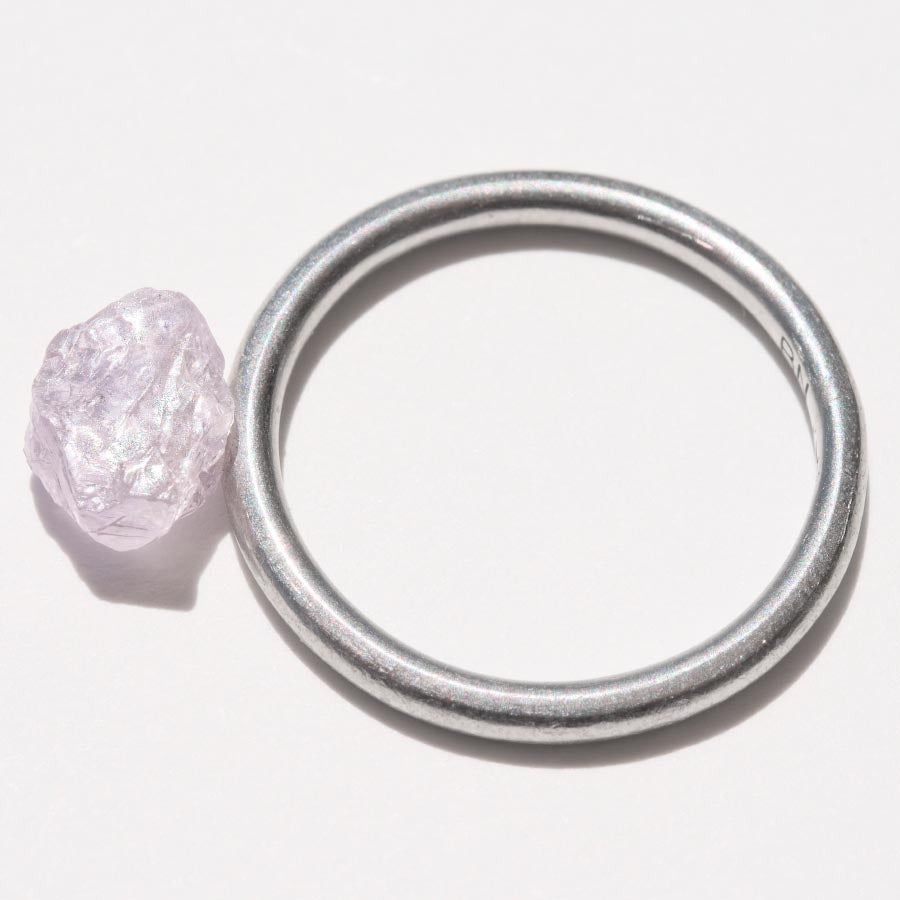 1.58 carat purple and freeform rough diamond