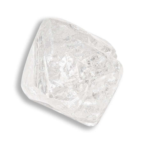1.15 carat proportional and white raw diamond octahedron