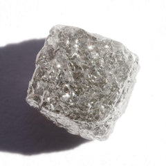 3.19 carat silver colored rough diamond cube Raw Diamond South Africa