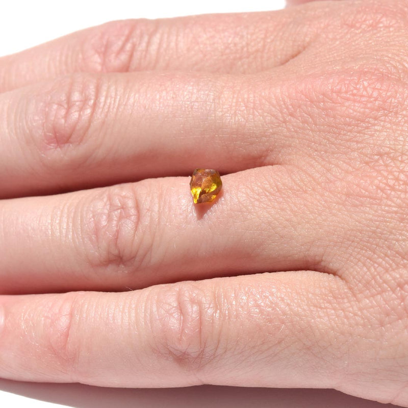 0.99 carat cognac freeform raw diamond