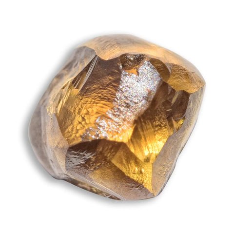 1.36 carat chocolate brown rough diamond octahedron