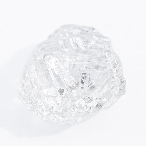 0.78 carat light gold rough diamond dodecahedron